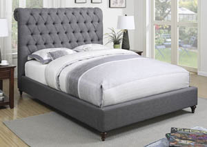 Dark Brown Queen Bed