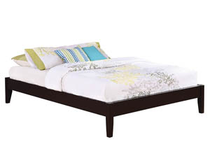 Cappuccino Queen Platform Bed