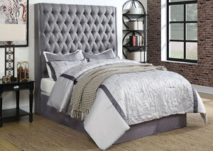 Dark Gray Queen Upholstered/Platform Bed
