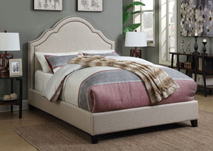 Oatmeal Queen Bed