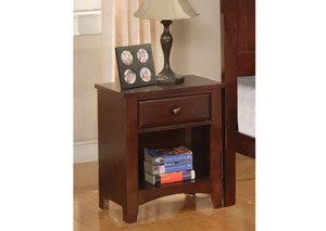 Parker Cappuccino Night Stand,Coaster Furniture