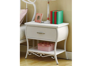 Bella White Night Stand