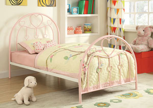 Juliette Sandy Yellow & Pink Twin Bed