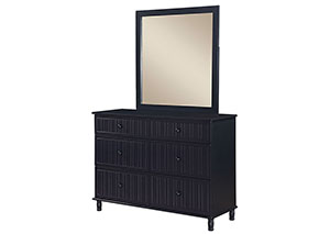 Navy Blue Mirror