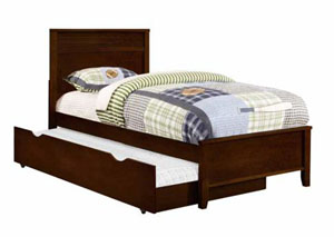Cappuccino Twin Bed