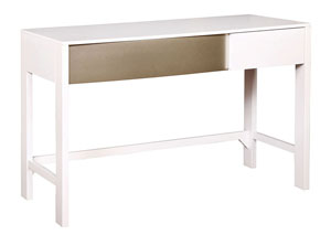 Blanco/Sterling Writing Desk