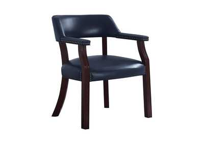 Image for Ebony Clay Modern Blue Guest Chair