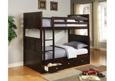 Jasper Twin Cappuccino Bunk Bed