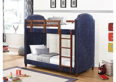 Dark Blue Twin Bunk Bed