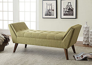 Green & Warm Brown Bench,Coaster Furniture