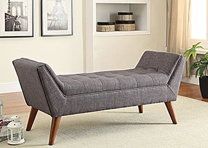 Grey & Warm Brown Bench,Coaster Furniture