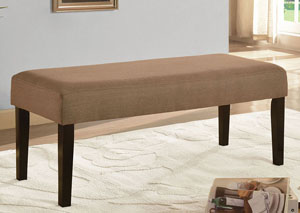 Brown Upholstered Bench