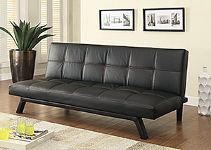 Black & Black Sofa Bed