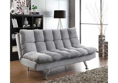 Dark Grey & Chrome Sofa Bed