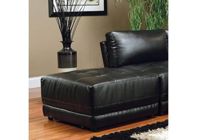 Kayson Sectional Black Ottoman (Bonded Leather)