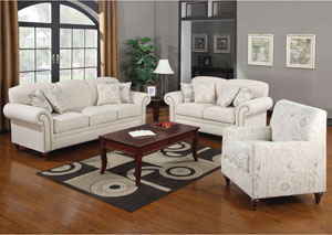 Norah Cream Sofa & Love Seat