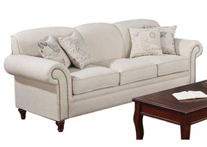 Norah Cream Sofa,Coaster Furniture