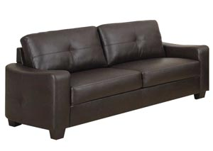 Jasmine Brown Bonded Leather Sofa,Coaster Furniture