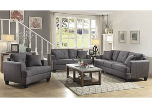 Charcoal Sofa and Loveseat