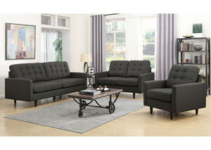 Charcoal Upholstered Sofa