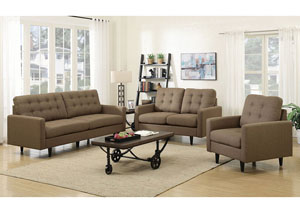 Kesson Dark Brown Sofa and Loveseat