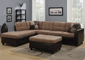 Mallory Tan Sectional & Ottoman