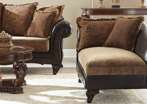 Garroway Russet and Chocolate Chaise