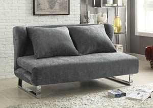 Grey Velvet Sofa Bed