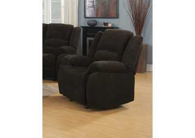 Gordon Dark Brown Glider Recliner