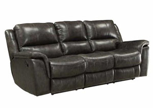 Black Power Reclining Sofa