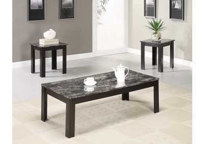 Finish Marble Looking 3pc Table Set