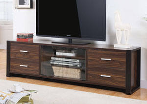 Dark Walnut/Red Cocoa TV Console