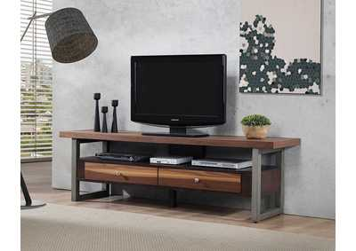 Natural Walnut Tv Console