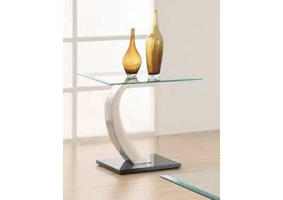 Satin Plated End Table