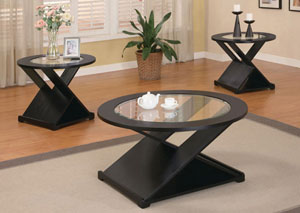 X Style 3pc Table Set,Coaster Furniture
