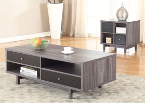 Black/Gray End Table,Coaster Furniture