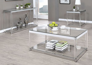 258189 Clear End Table