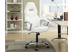 White & White Office Chair