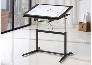 Black Drafting Desk