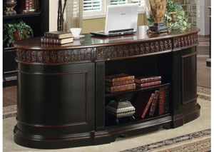 Two Tone Oval Desk