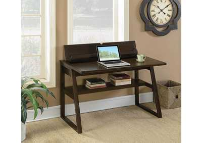 Brown Writing Desk w/Outlet