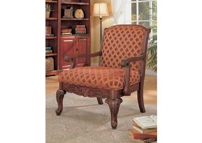 Cherry Accent Chair,Coaster Furniture