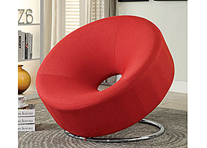 Red & Chrome Lounge Chair