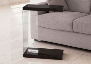 Glossy Black Accent Table