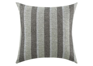 Charcoal Striped Pillow (Set of 2)