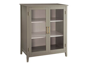 White/Gray Accent Cabinet