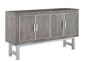 Gray Accent Cabinet