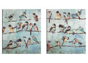 A Flock Of Early Birds Wall Art