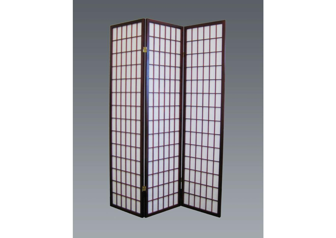 Cherry 3 Panel Wood Room Divider,Crown Mark