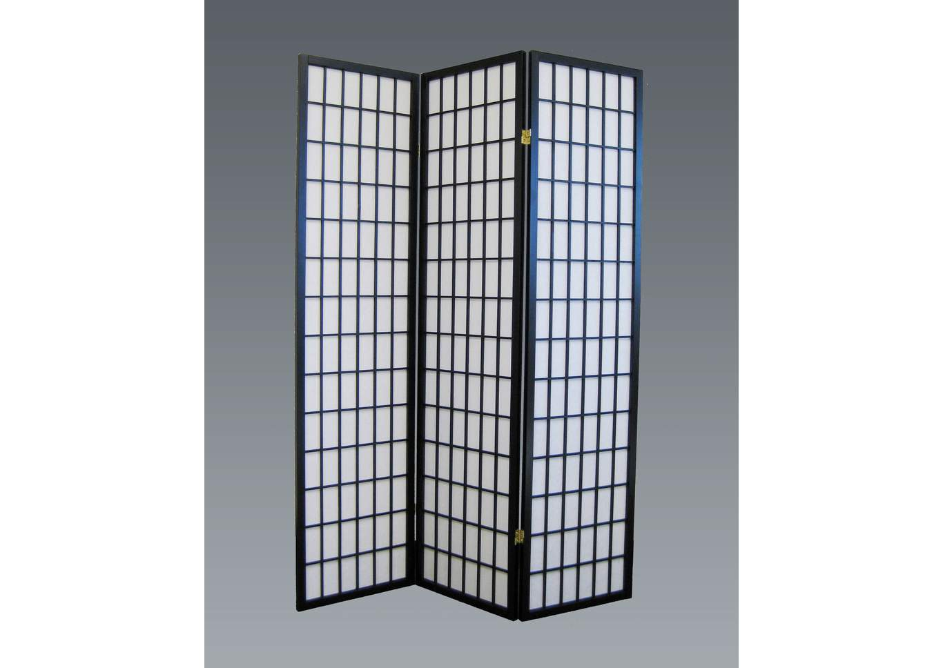 Black 3 Panel Wood Room Divider,Crown Mark